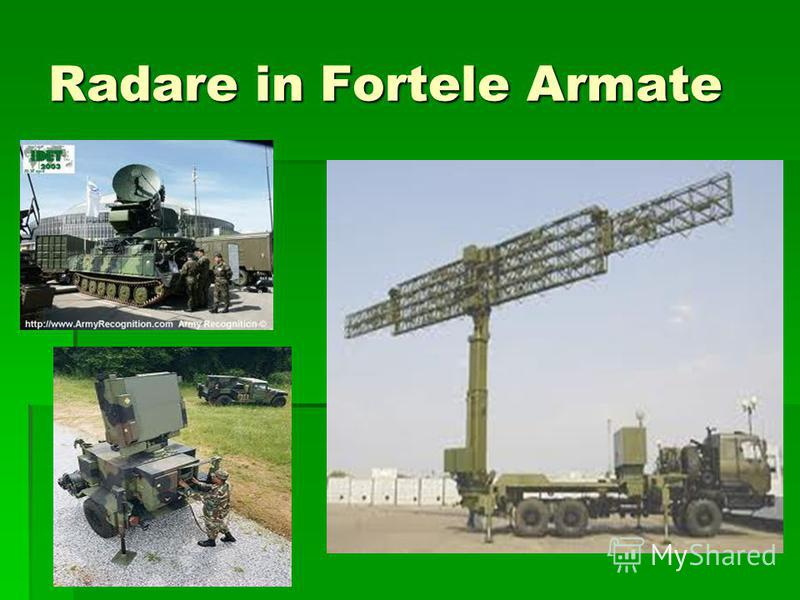 Radare in Fortele Armate