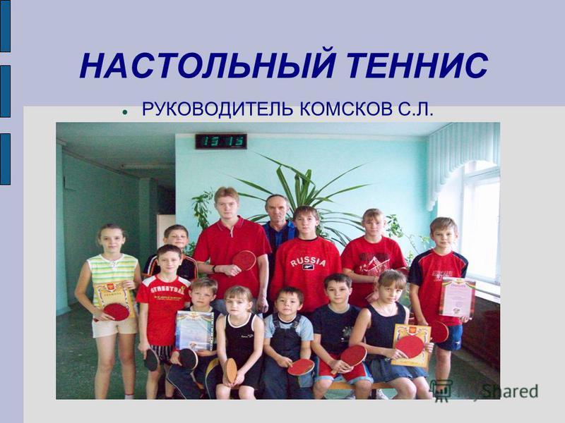 НАСТОЛЬНЫЙ ТЕННИС РУКОВОДИТЕЛЬ КОМСКОВ С.Л.