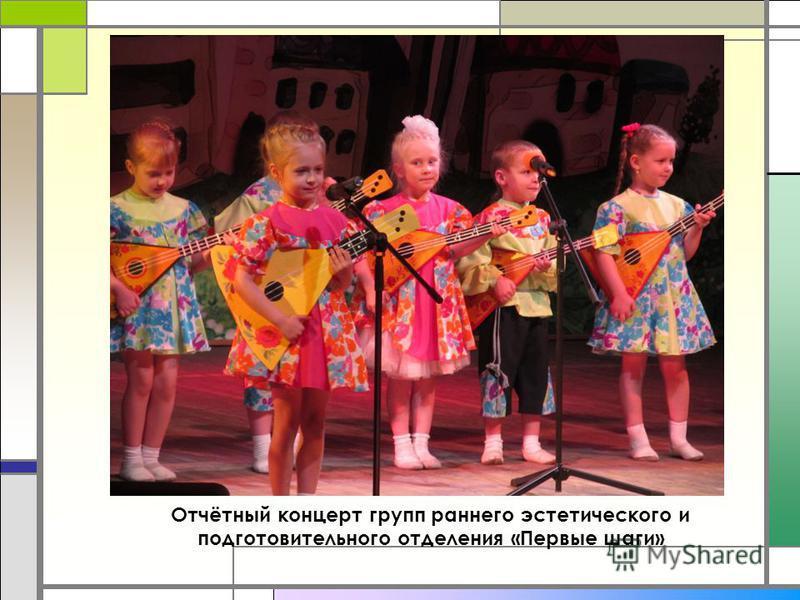 Отчётный концерт групп раннего эстетического и подготовительного отделения «Первые шаги»