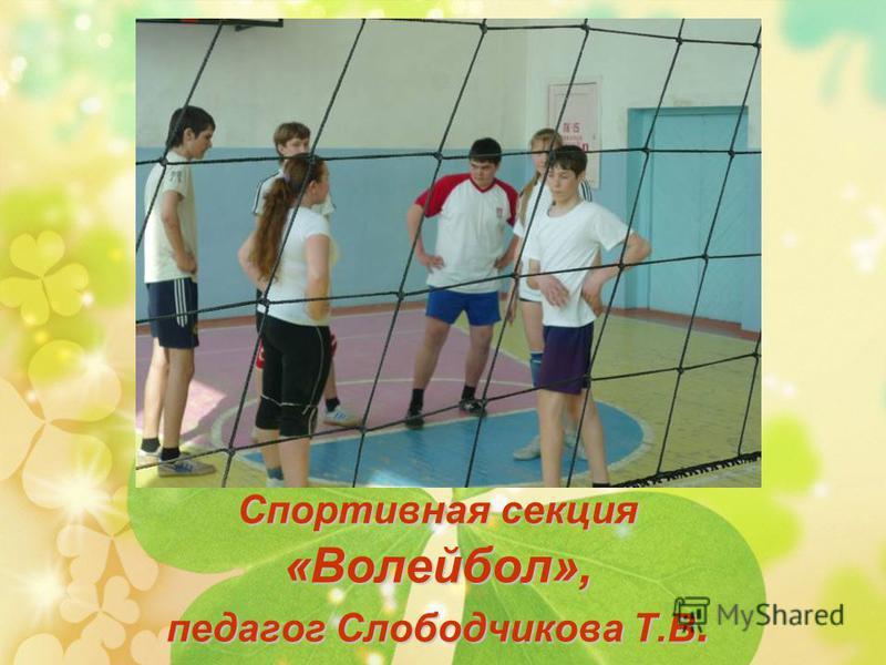 Спортивная секция «Волейбол», педагог Слободчикова Т.В.