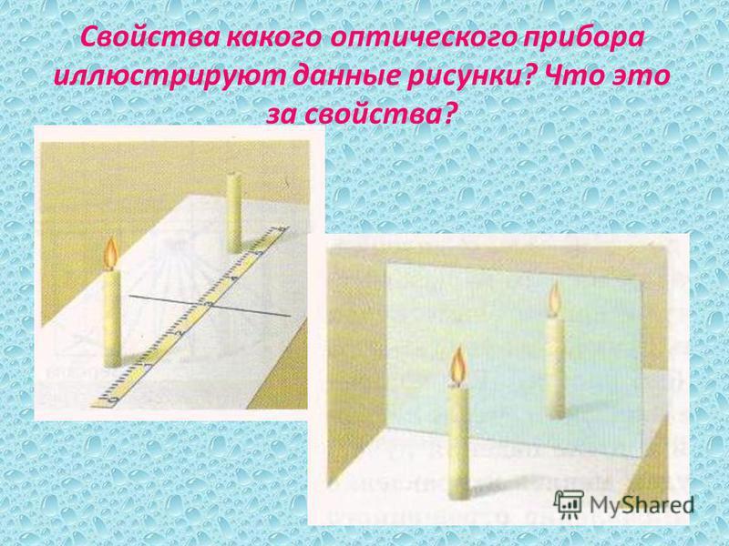 Свойства какого оптического прибора иллюстрируют данные рисунки? Что это за свойства?