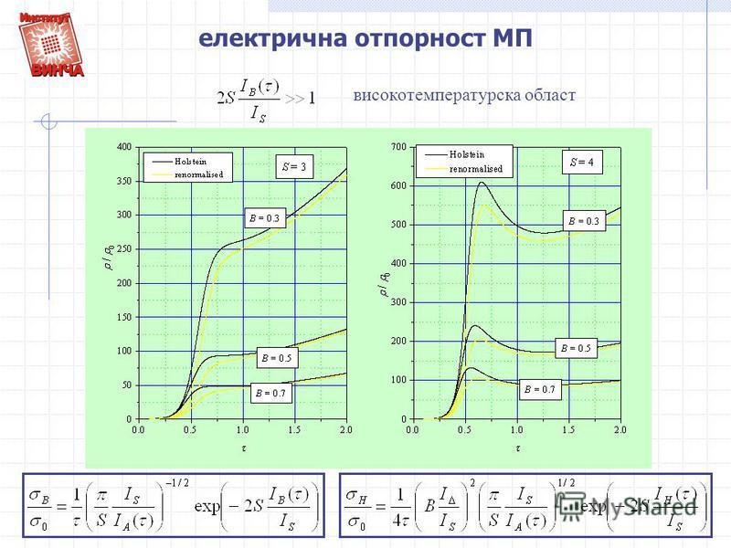 електрична отпорност МП високотемпературска област