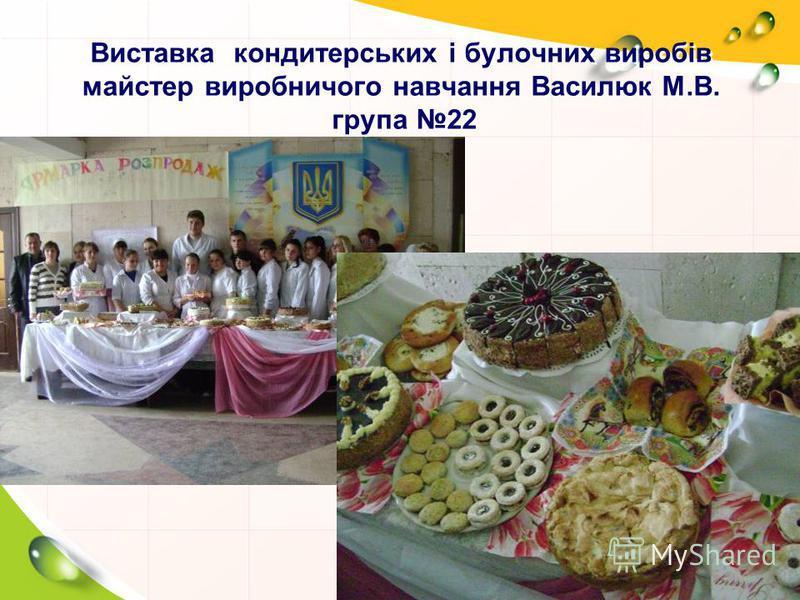 Виставка кондитерських і булочних виробів майстер виробничого навчання Василюк М.В. група 22