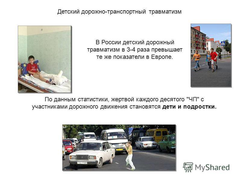 По данным статистики, жертвой каждого десятого ЧП с участниками дорожного движения становятся дети и подростки. В России детский дорожный травматизм в 3-4 раза превышает те же показатели в Европе. Детский дорожно-транспортный травматизм