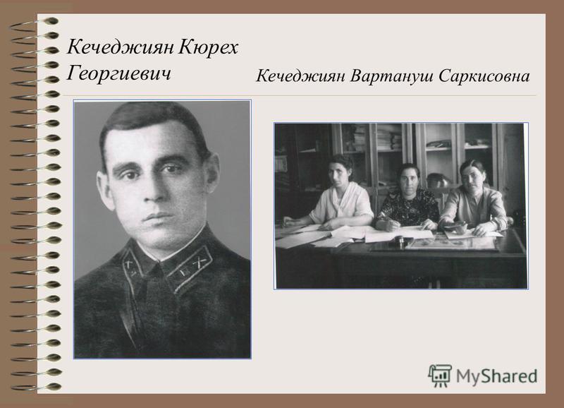 Кечеджиян Кюрех Георгиевич Кечеджиян Вартануш Саркисовна