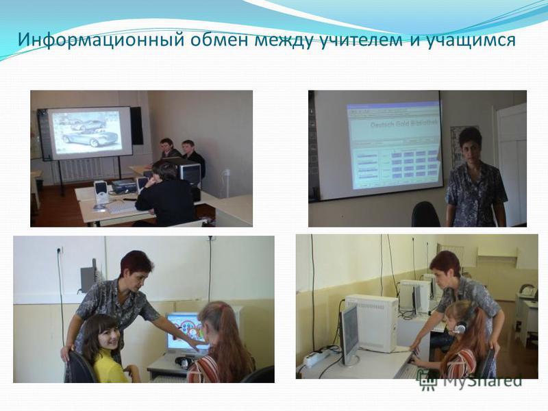 Информационный обмен между учителем и учащимся
