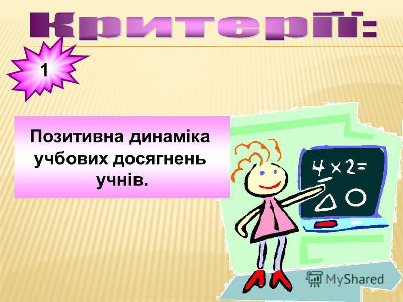 1 Позитивна динаміка учбових досягнень учнів.