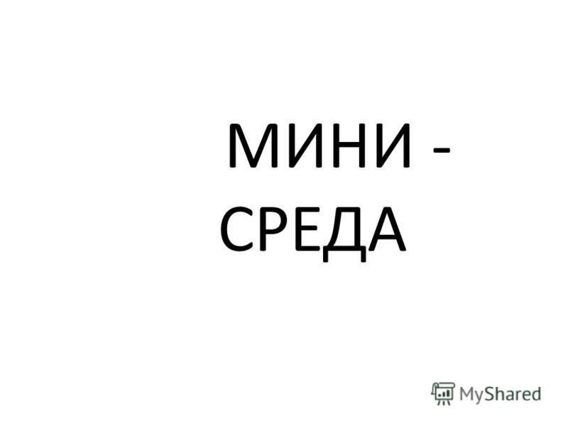 МИНИ - СРЕДА
