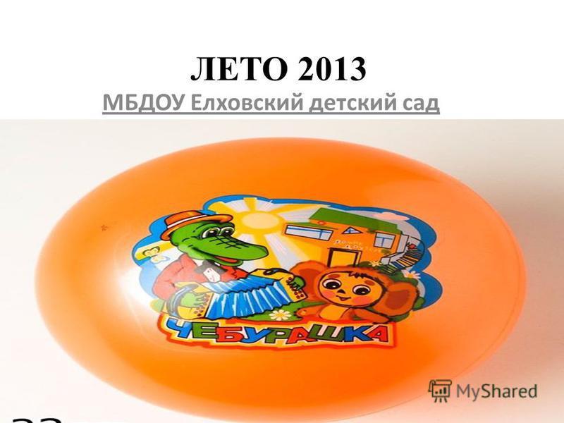 ЛЕТО 2013 МБДОУ Елховский детский сад