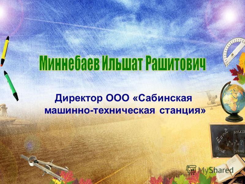Директор ООО «Сабинская машинно-техническая станция»