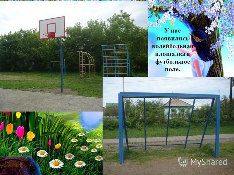 У нас появились волейбольная площадка и футбольное поле.