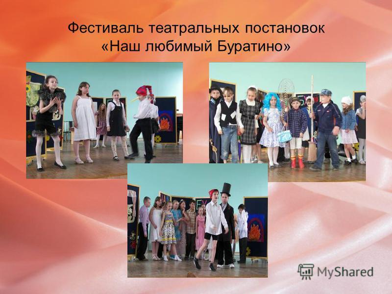 Фестиваль театральных постановок «Наш любимый Буратино»