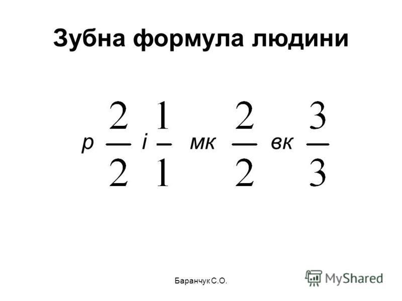 Зубна формула людини ірмквк