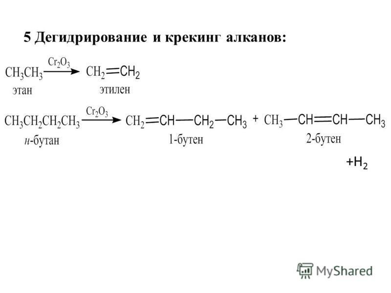+Н2+Н2 5 Дегидрирование и крекинг алканов: