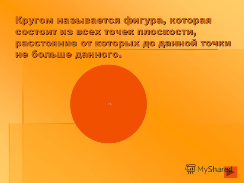 Конусом называется тело, которое состоит из круга - основания конуса,круга точки, не лежащей в плоскости этого круга - вершины конуса, всех отрезков, соединяющих вершину конуса с точками основания