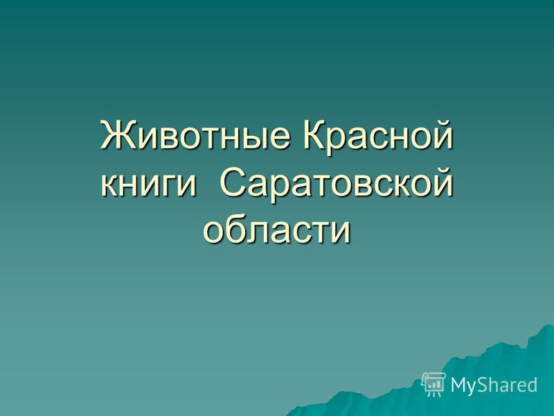 Животные Красной книги Саратовской области