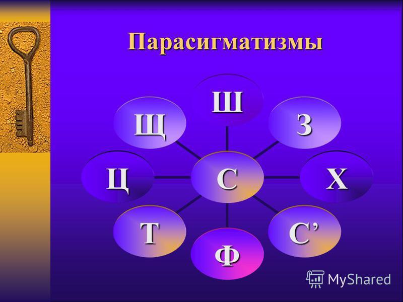 Парасигматизмы С Ш З Х С Ф Т Ц Щ