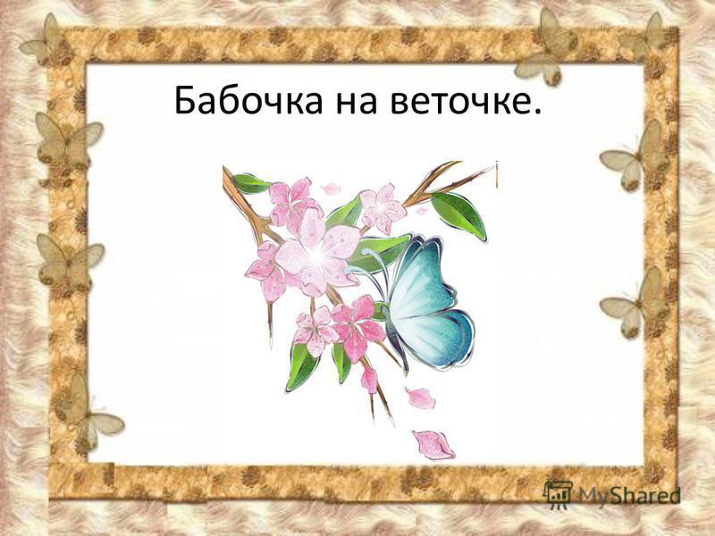 Бабочка на веточке.
