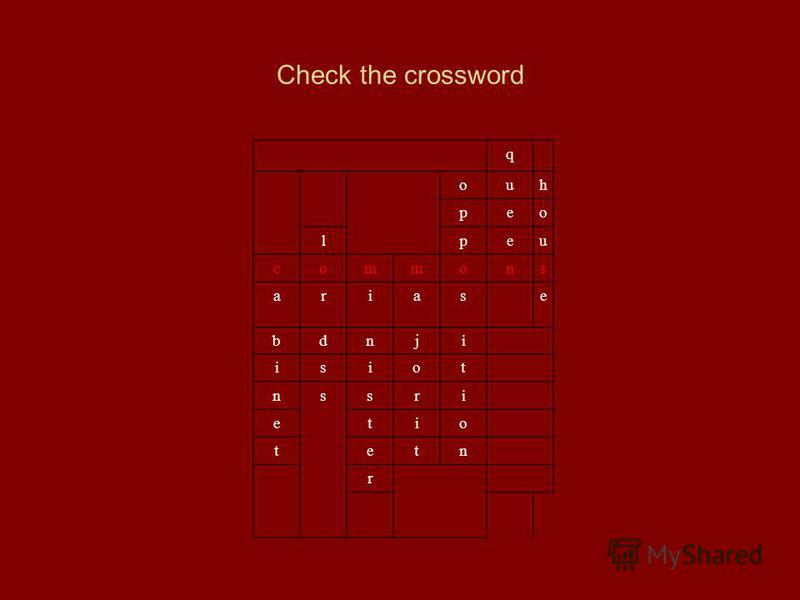 Check the crossword q ouh peo lpeu commons ariase bdnji isiot nssri etio tetn r