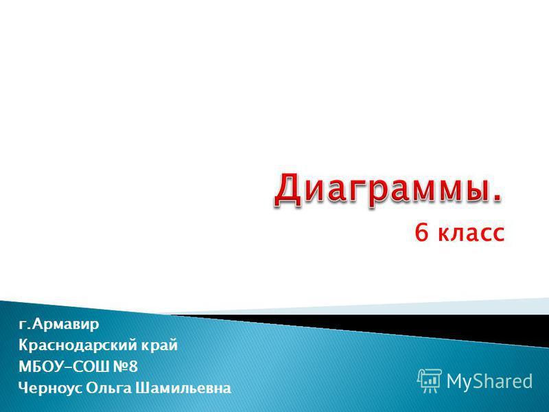 6 класс г.Армавир Краснодарский край МБОУ-СОШ 8 Черноус Ольга Шамильевна