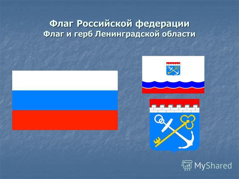 Флаг Российской федерации Флаг и герб Ленинградской области