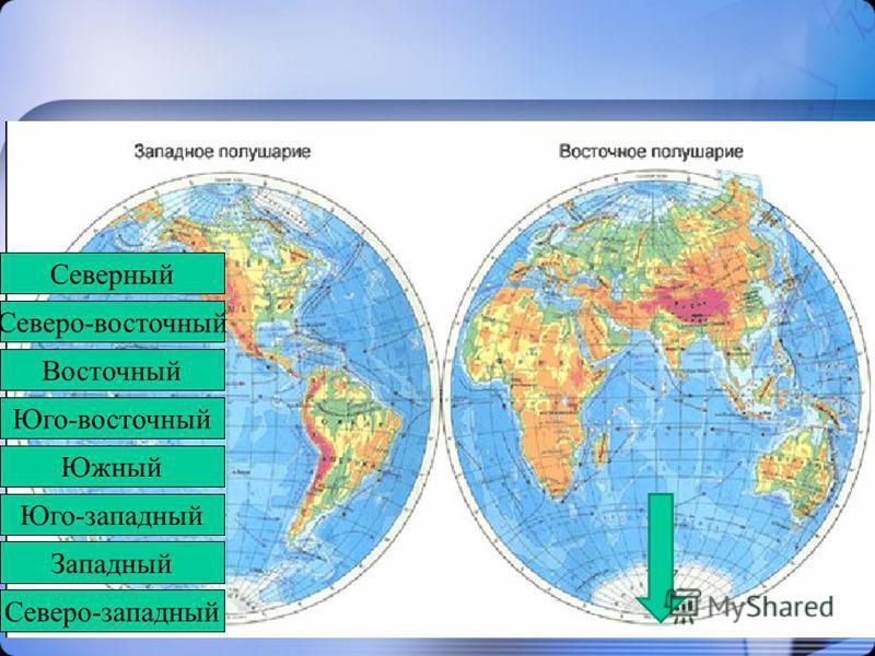 Северо-западный Западный Юго-западный Южный Юго-восточный Восточный Северо-восточный Северный Северо-западный Западный Юго-западный Южный Юго-восточный Восточный Северный