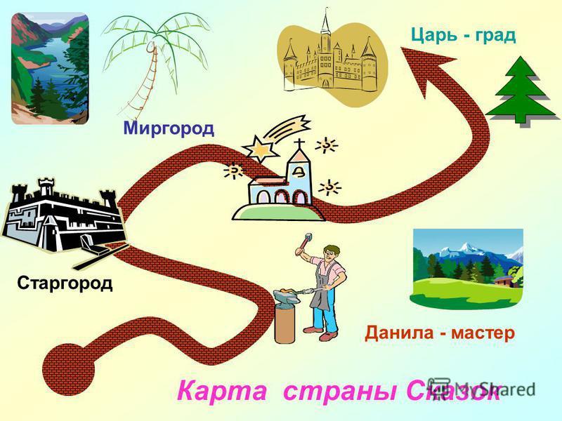 Данила - мастер Старгород Миргород Царь - град Карта страны Сказок