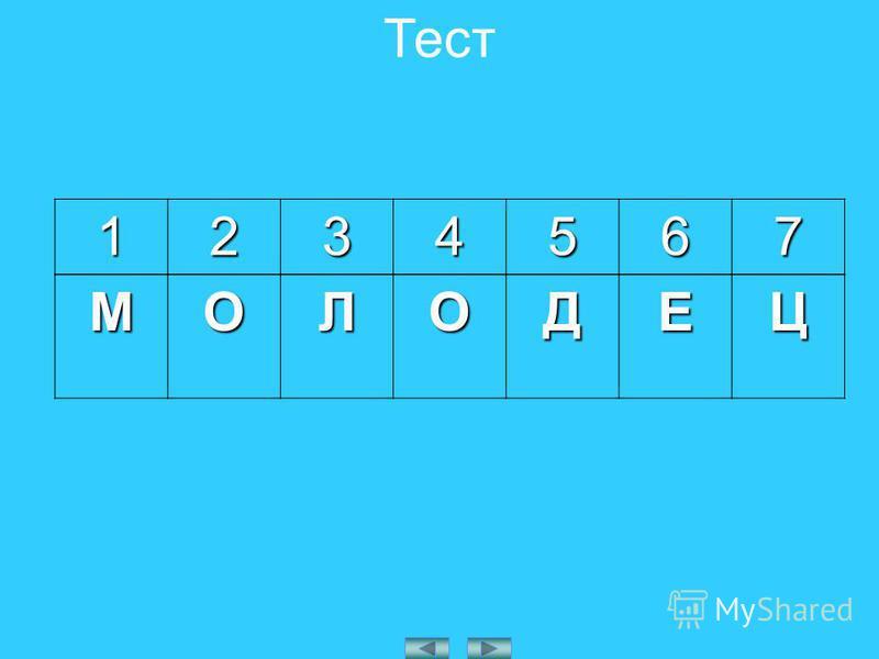 ТестМОЛОДЕЦ 1234567