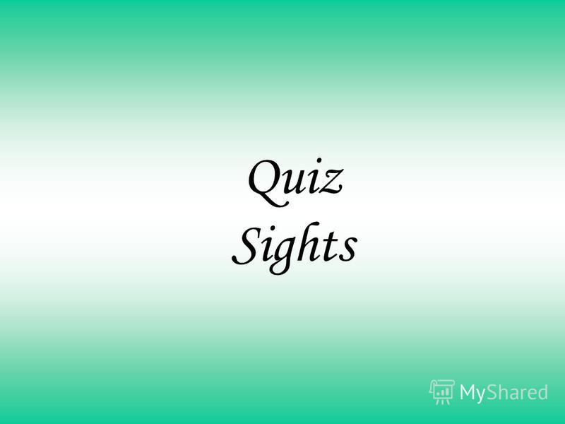 Quiz Sights