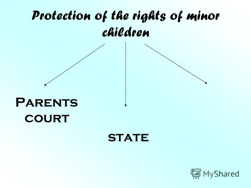 Protection of the rights of minor children Parents court state