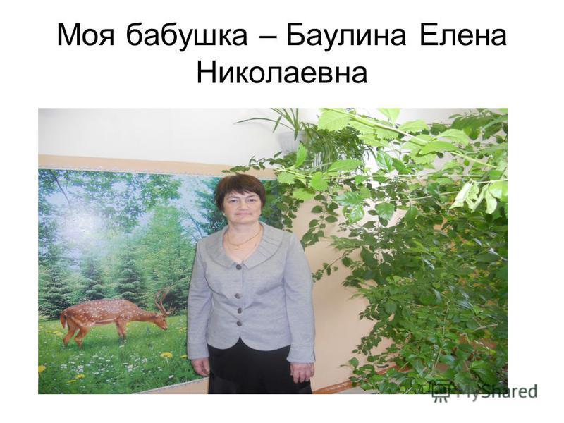 Моя бабушка – Баулина Елена Николаевна