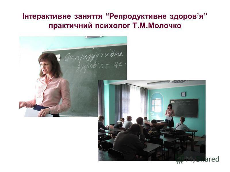 Інтерактивне заняття Репродуктивне здоровя практичний психолог Т.М.Молочко