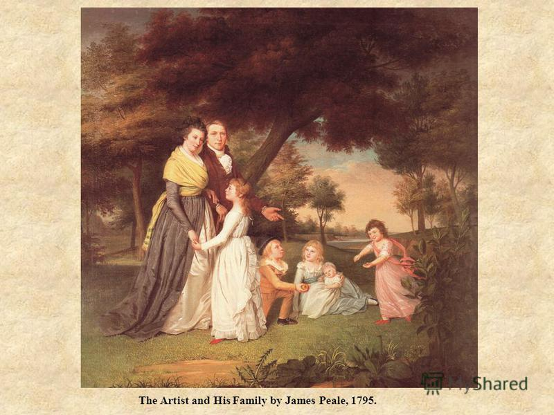 The Artist and His Family by James Peale, 1795.