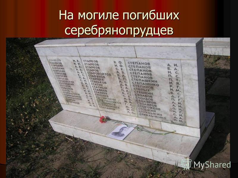 На могиле погибших серебрянопрудцев