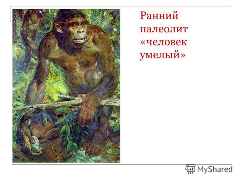 Ранний палеолит «человек умелый»