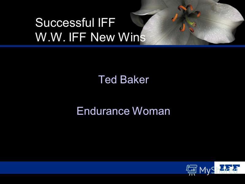 Ted Baker Endurance Woman Successful IFF W.W. IFF New Wins