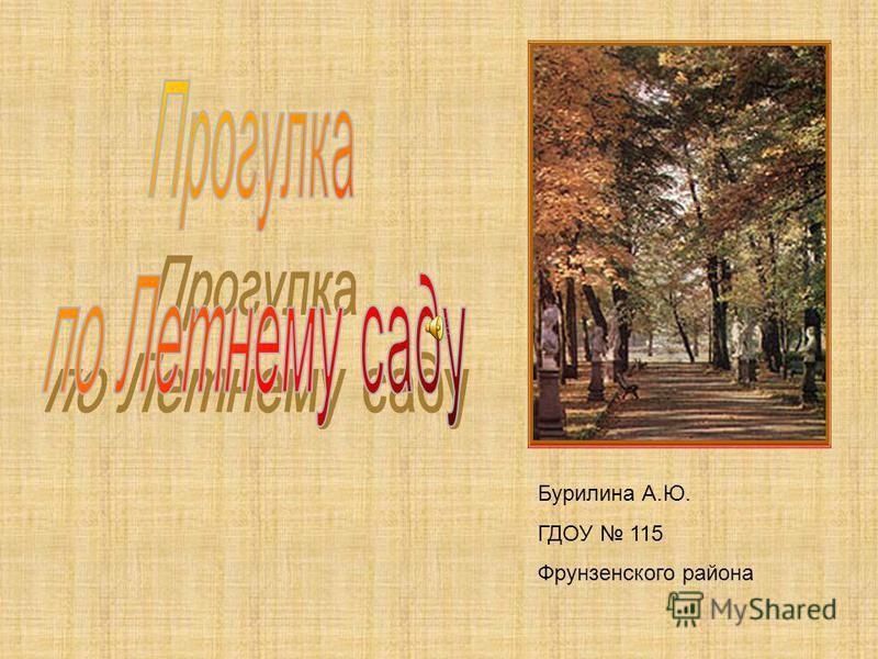 Бурилина А.Ю. ГДОУ 115 Фрунзенского района