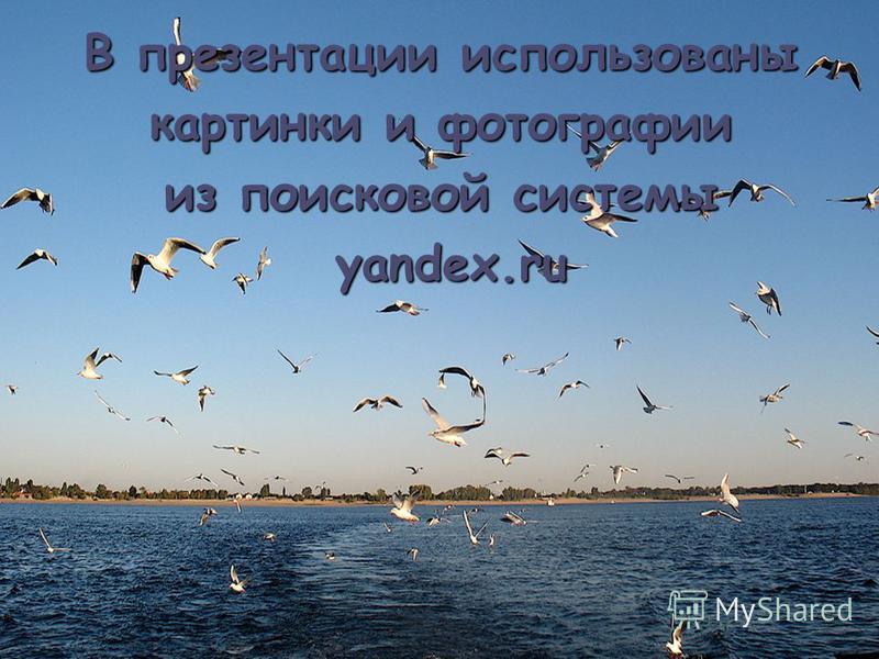 В презентации использованы картинки и фотографии из поисковой системы yandex.ru yandex.ru