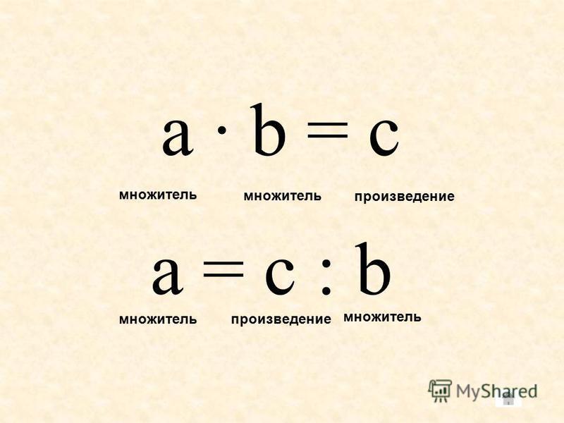 a – b = c уменьшаемое вычитаемое разность a = c + b уменьшаемое разность вычитаемое