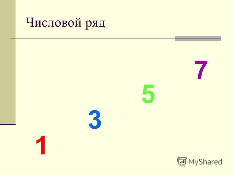 Числовой ряд 1 3 5 7