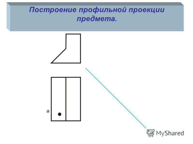 Построение профильной проекции предмета.
