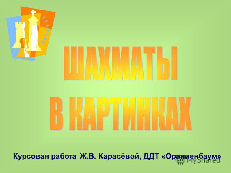 Курсовая работа Ж.В. Карасёвой, ДДТ «Ораниенбаум»