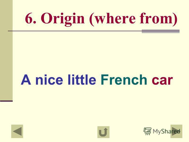 5.Colour A small square green box