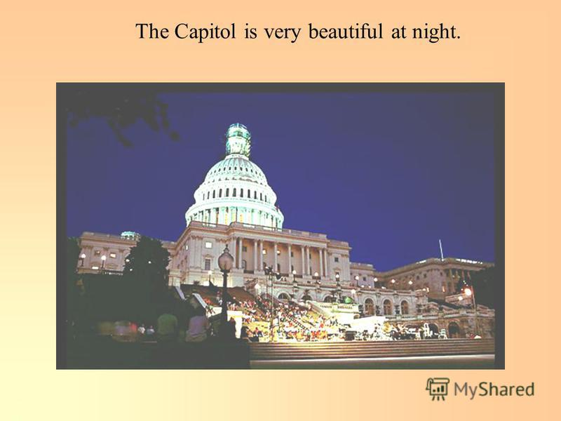 The Capitol is very beautiful at night.