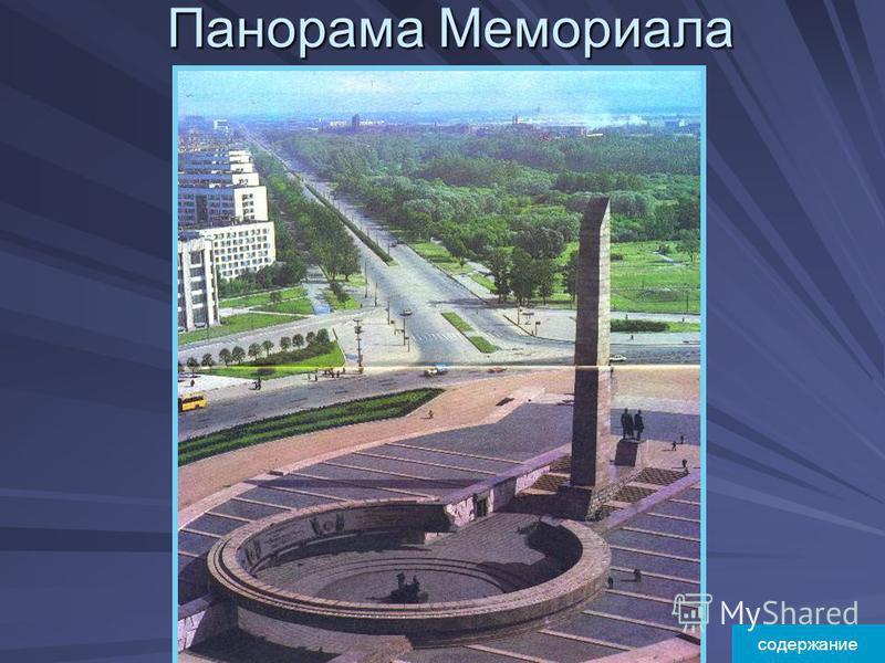 Панорама Мемориала содержание