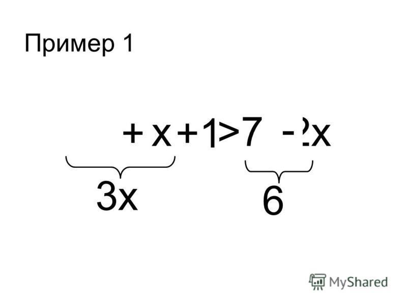 x >7 -2x ++1 - 3x3x 6 Пример 1