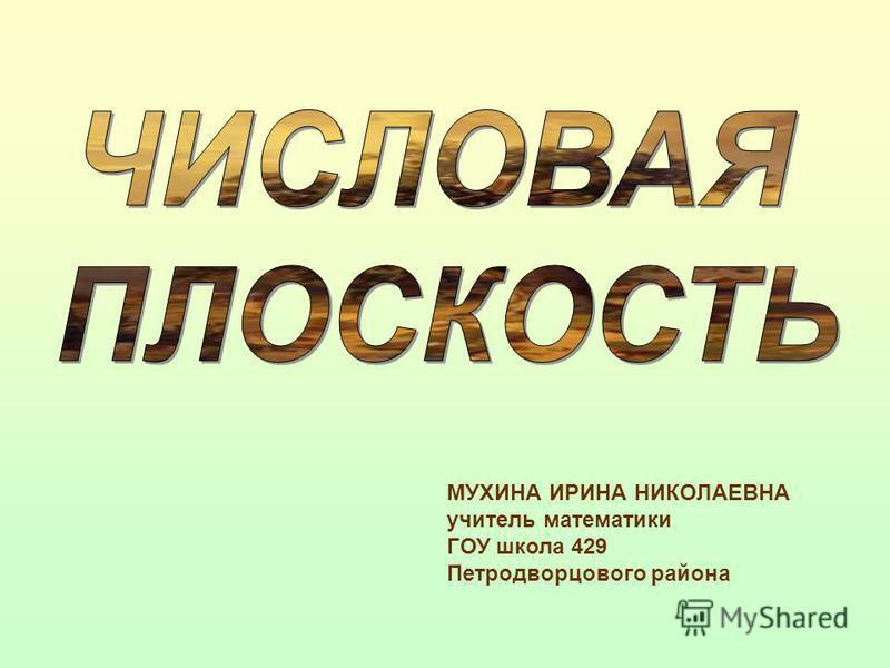 МУХИНА ИРИНА НИКОЛАЕВНА учитель математики ГОУ школа 429 Петродворцового района
