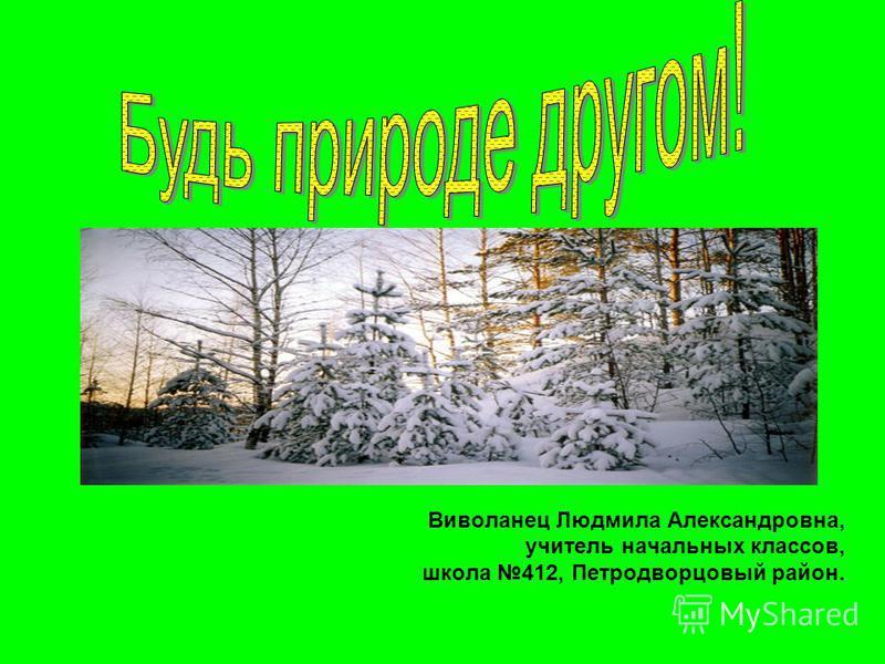 Виволанец Людмила Александровна, учитель начальных классов, школа 412, Петродворцовый район.