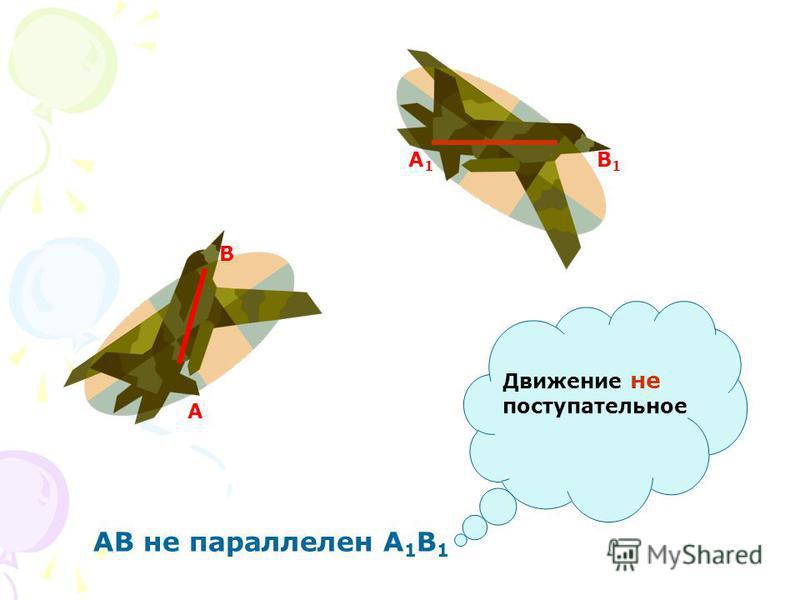 А В А1А1 В1В1 АВ не параллелен А 1 В 1 Движение не поступательное