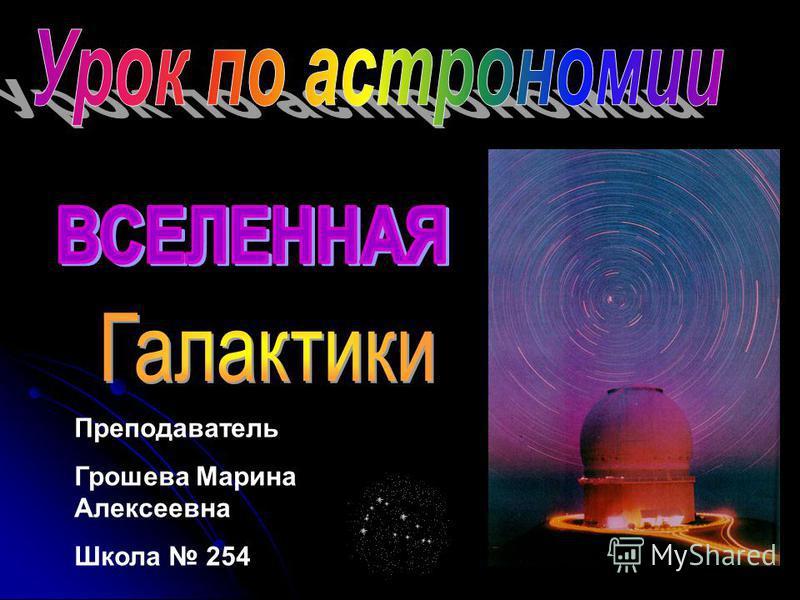 Преподаватель Грошева Марина Алексеевна Школа 254